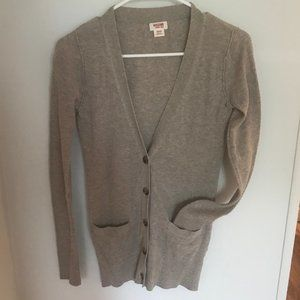 Mossimo Target Beige/Tan Button Front Cardigan XS